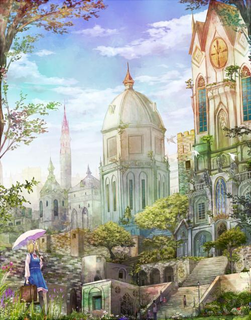 お絵描きIRADUKAI SAI No.583 CG・イラストメイキング [No.583] 時雨 様 初めまして。時雨と申します 今回は背景 をメインに解説させていただきました。